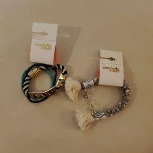 NWT Charlotte Russe Boho Bracelets Duo